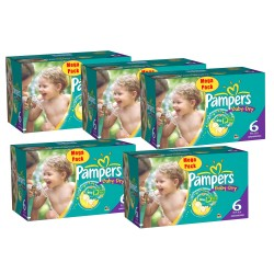 Pack économique 304 Couches Pampers Baby Dry taille 6+ sur Promo Couches