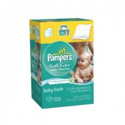 Maxi Pack 192 Lingettes Bébés Pampers Baby Fresh - 3 Packs de 64 sur Promo Couches