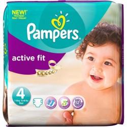 Pack d'une quantité de 39 Couches Pampers Active Fit de taille 4 sur Promo Couches