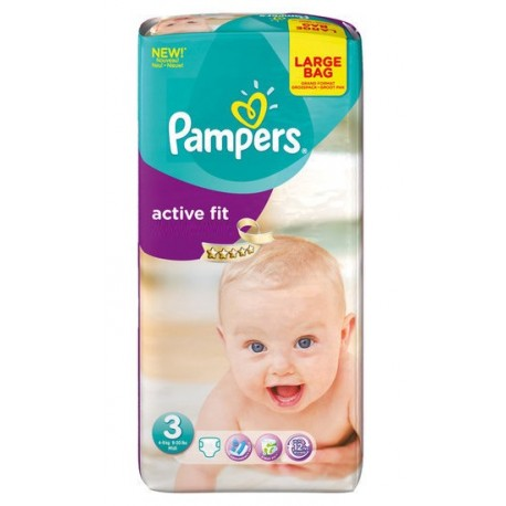 Couches pampers active fit taille 3 pas cher 62 couches sur promo couches - Couche pampers taille 3 pas cher ...
