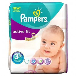 Pack 70 Couches Pampers Active Fit de taille 3+ sur Promo Couches