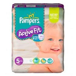 Pack d'une quantité de 20 Couches Pampers Active Fit taille 5 sur Promo Couches