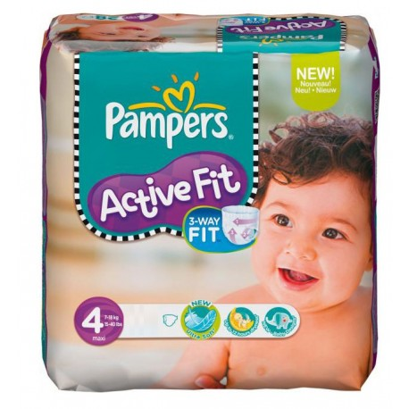 Couches pampers active fit taille 4 en solde 78 couches sur promo couches - Couches pampers en promo ...