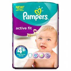 Pack 50 Couches Pampers Active Fit taille 4+