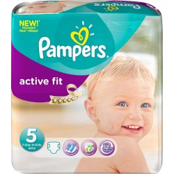 Pack 92 Couches de Pampers Active Fit taille 5