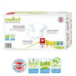 Pack 30 Couches bio écologiques Swilet Premium Protection taille 1 sur Promo Couches