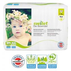 Paquet 28 Couches bio écologiques Swilet taille 4 sur Promo Couches