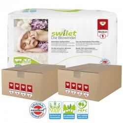 Maxi pack 300 Couches bio écologiques Swilet taille 1 sur Promo Couches