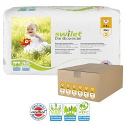 Maxi pack 168 Couches bio écologiques Swilet taille 2 sur Promo Couches