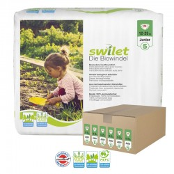 Giga pack 144 Couches bio écologiques Swilet taille 5 sur Promo Couches