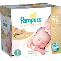 Maxi Giga pack 164 Couches Pampers Premium Care taille 1 sur Promo Couches