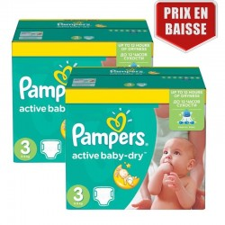 Maxi Pack 410 Couches Pampers Active Baby Dry taille 3