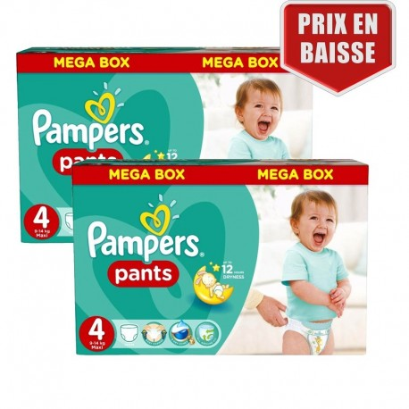 Maxi Pack 282 Couches Pampers Baby Dry Pants taille 4 sur Promo Couches
