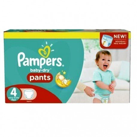 Pack 94 Couches Pampers Baby Dry Pants taille 4 sur Promo Couches