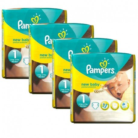 maxi pack 115 Couches Pampers New Baby taille 1 sur Promo Couches