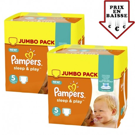 Maxi Giga pack 476 Couches Pampers Sleep & Play taille 2 sur Promo Couches