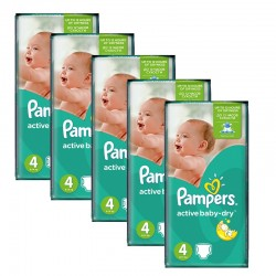 Maxi Giga pack 294 Couches Pampers Active Baby Dry taille 4