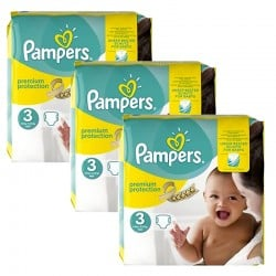 Maxi Mega Pack 240 Couches Pampers Premium Protection - New Baby taille 3