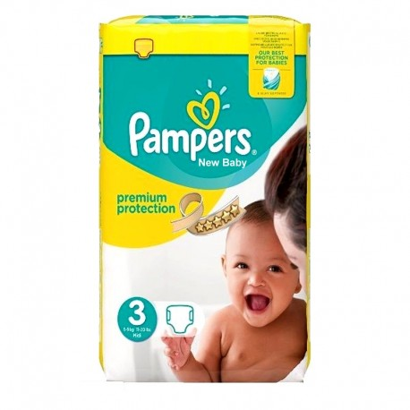 Pack 29 Couches Pampers Premium Protection - New Baby taille 3 sur Promo Couches