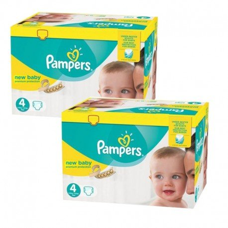 Giga Pack 336 Couches Pampers Premium Protection - New Baby taille 4 sur Promo Couches