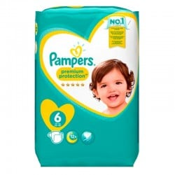 Pack 120 Couches Pampers Premium Protection - New Baby taille 6