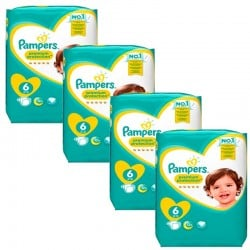 Mega Pack 96 Couches Pampers Premium Protection - New Baby taille 6