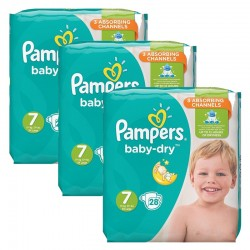 Pack 84 Couches Pampers Baby Dry taille 7 sur Promo Couches