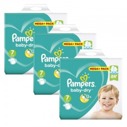 Maxi Mega Pack 140 Couches Pampers Baby Dry taille 7 sur Promo Couches