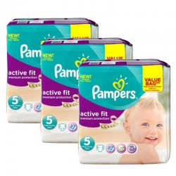 Giga Pack 276 Couches Pampers Active Fit taille 5