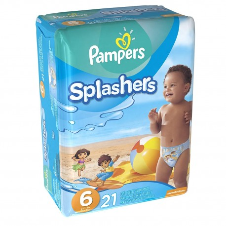 Pack 21 Couches de bains Pampers Swimming Pants Splachers taille 6 sur Promo Couches