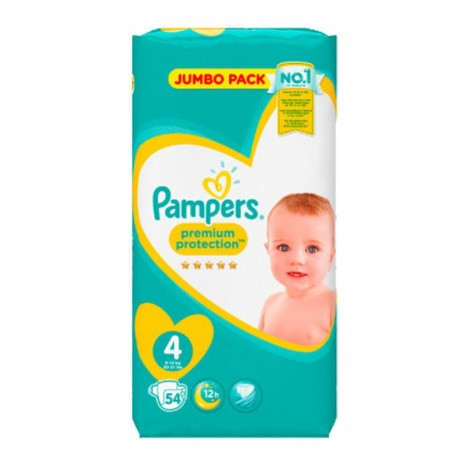 Pack 54 Couches Pampers New Baby - Premium Protection taille 4 sur Promo Couches