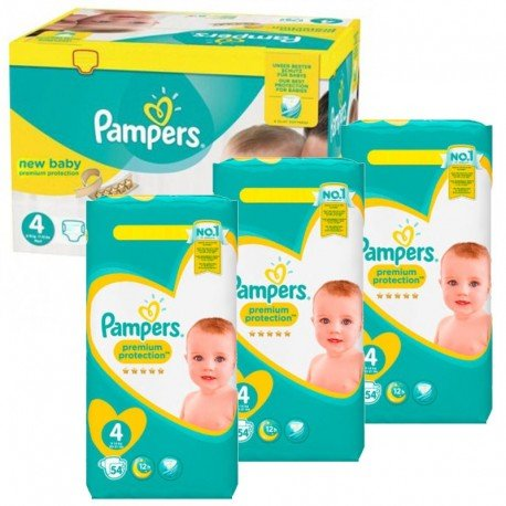 Mega Pack 270 Couches Pampers New Baby - Premium Protection taille 4 sur Promo Couches