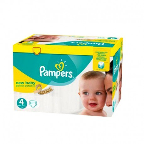 Pack 64 Couches Pampers New Baby - Premium Protection taille 4 sur Promo Couches