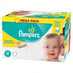 Pack 240 Couches Pampers New Baby - Premium Protection taille 2 sur Promo Couches