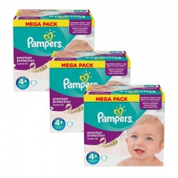 Maxi Giga Pack 186 Couches Pampers Active Fit taille 4+ sur Promo Couches