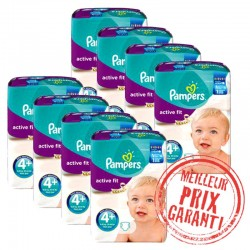 Giga Pack Jumeaux 620 Couches Pampers Active Fit taille 4+ sur Promo Couches