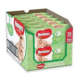 560 Lingettes Bébés Huggies Natural Care