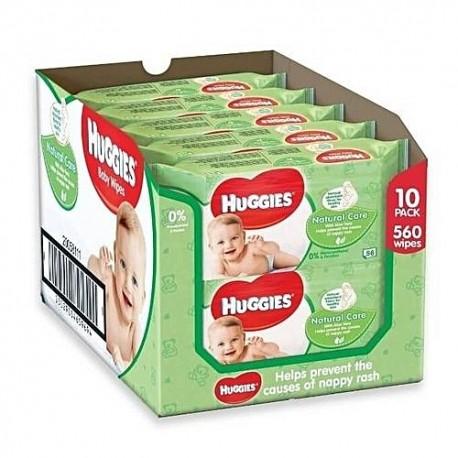 560 Lingettes Bébés Huggies Natural Care sur Promo Couches
