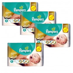Maxi Pack 266 Couches Pampers New Baby - Premium Care taille 2 sur Promo Couches