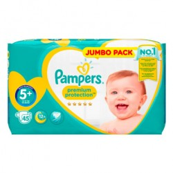 Pack 45 Couches Pampers New Baby taille 5+ sur Promo Couches