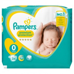 Pack 24 Couches Pampers New Baby Premium Protection taille 0