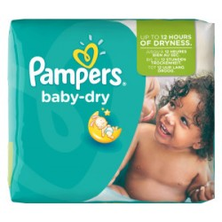 Pack 25 Couches Pampers Baby Dry taille 5+
