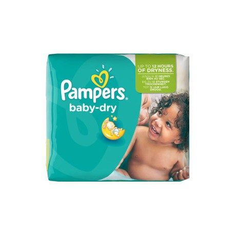 Pack 25 Couches Pampers Baby Dry taille 5+ sur Promo Couches