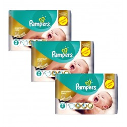Maxi Giga Pack 190 Couches Pampers New Baby Premium Care taille 2