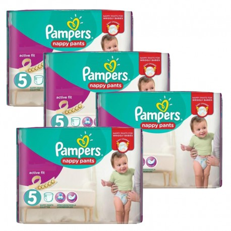 Maxi Pack 330 Couches Pampers Active Fit taille 5 sur Promo Couches