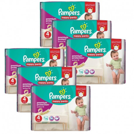 Maxi Pack 224 Couches Pampers Active Fit - Pants taille 4 sur Promo Couches