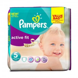 Pack 47 Couches Pampers Active Fit taille 5 sur Promo Couches