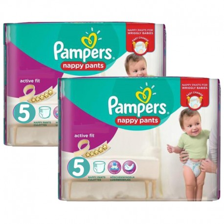 Giga Pack 180 Couches Pampers Active Fit - Pants taille 5 sur Promo Couches