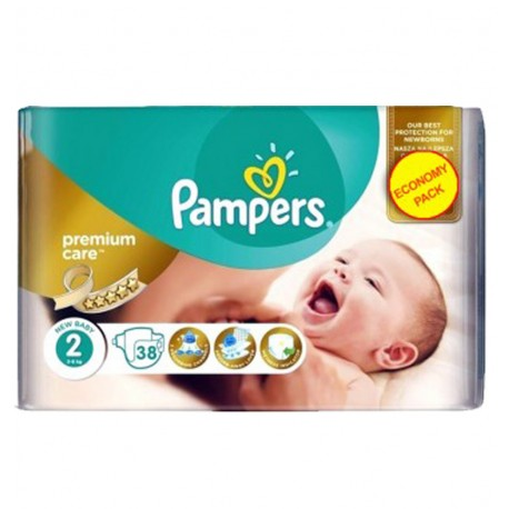 Pack 38 Couches Pampers New Baby - Premium Care taille 2 sur Promo Couches