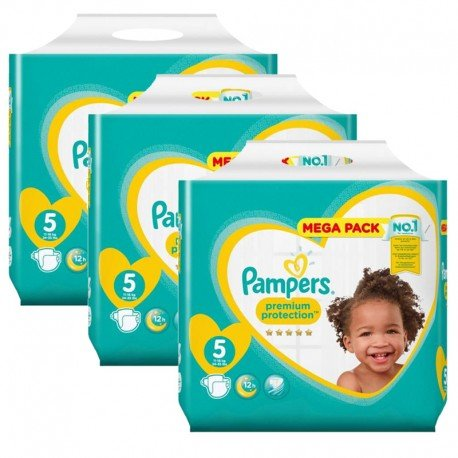 Maxi Pack 210 Couches Pampers New Baby - Premium Protection taille 5 sur Promo Couches